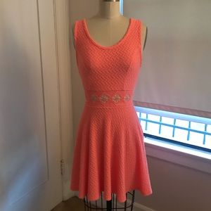 Bright pink summer dress